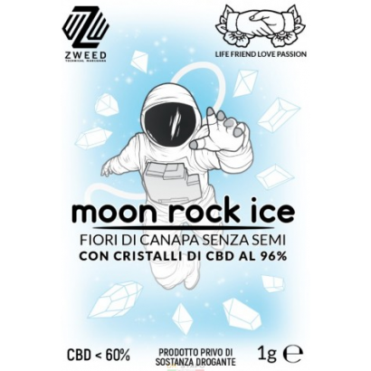 Zweed Moon Rock ICE 1gr con cristalli CBD