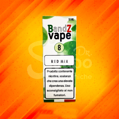 Liquid BandZ Vape with fresh red fruits Red Mix TPD 10ml Electronic Cigarette