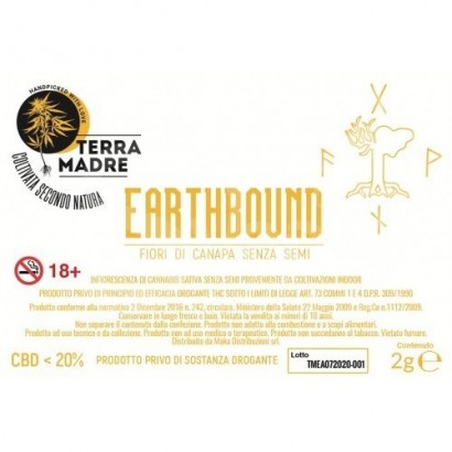 Earthbound - Terramadre Barattolo 2gr infiorescenze CBD
