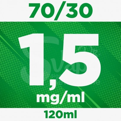 Kit Base Neutra nicotina 1,5mg 120ml - 70/30 PURE