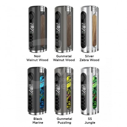 Grus Box Mod Batterie 100W Resin & Walnut Edition - Lost Vape